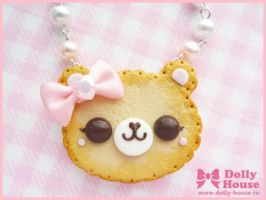 Princess Cookie Bear Necklace by Dolly House by SweetDollyHouse