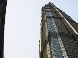 exterior jinmao tower by crazytmac