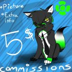 5$ Commissions by wolvesforever122