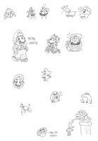 More Mario doodles by tymime