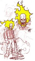 Ghost Rider Sketch by RAHeight2002-2012