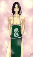 Snape/apron by LiaBatman