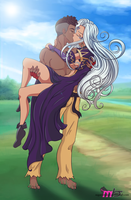 Commission: Sean and Urd by R-Legend