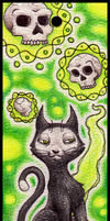 Bewitched Cat Bookmark by DablurArt