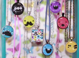Monster collection necklaces by mjdaluz