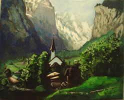 switzerland my painting by cliford417