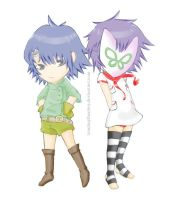 Gorillaz: Cyborg and Noodle CHIBI by tranhuythanhvy