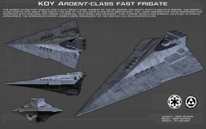 Ardent-class fast frigate ortho [New] by unusualsuspex