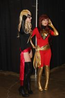 Ms. Marvel and Dark Phoenix by VoiceofSupergirl