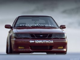 Saab 9-3  CGI stanced by sergoc58