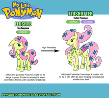 My Little Ponymon - Fluttershy by BrownieComicWriter