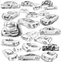 Alfa sketches by MartinEDesign