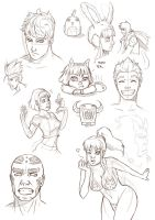 Random sketches by MauroIllustrator
