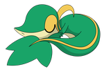 Snivy Sleeping by kol98