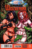 Savage Land Psylocke + Blink sketch cover by gb2k