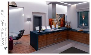 Water House - L. and Kitchen 5 by Semsa