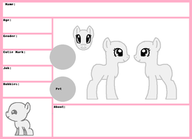MLP Female Reference Sheet by oCrystal