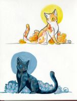 Two Cats Two Paints by Om-nom-nomnivore