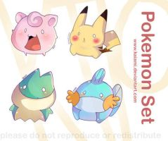 Pokemon Set by Kaiami