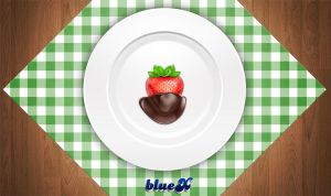 Strawberry with chocolate by BlueX-Design