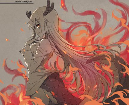 Tohru on fire by tonee89