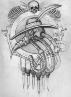 Plague Engine Pencil Sketch by AshleyRussell