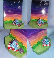 MLP FiM blindbag shipping diorama: Twi and Trixie! by vulpinedesigns