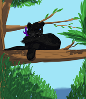Tree Top {Commission} by JackdawTheFabulous
