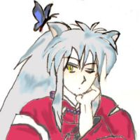 Ummm Inuyasha with Butterfly by AestheticSaturn