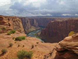 Glen Canyon Dam Overlook by dolphinandcow