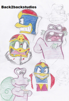 Kirby:King Dedede and Escargoon:Doodles by Back2backstudios