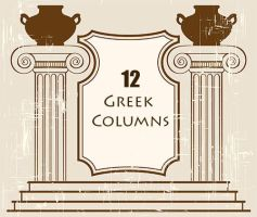 Greek Columns PS Brushes by fiftyfivepixels
