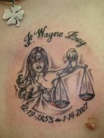 LADY JUSTICE TATTOO by Dreekzilla