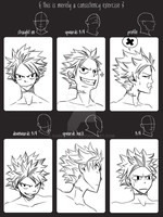 Natsu consistency exercise by DarkDashy