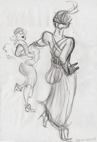 Lifedrawing: Dancers by ph00