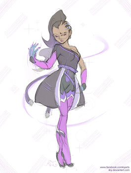 Sketch Ballet Sombra Version by iKiy