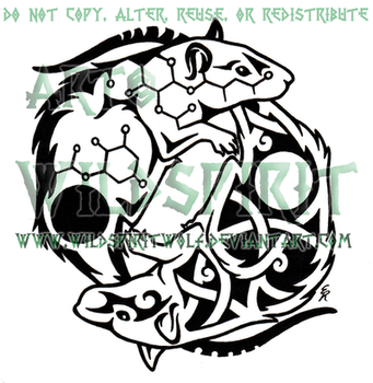 Yin Yang Rats Tattoo by WildSpiritWolf