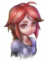 iPad Finger Painting- Shading Practice, Chibi Shy by ptcrow
