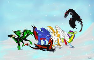 Xmas Draggies -3- by Aarok