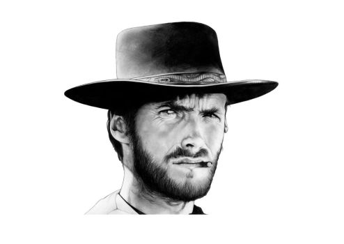 Clint Eastwood, The Good, The Bad and the Ugly by AaronKingIllustrator