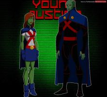 Young Justice: Martian Manhunter and Miss Martian by YorkeMaster