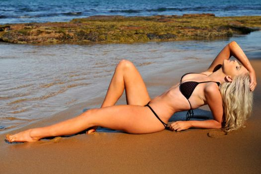 Kahli - black and red on sand 1 by wildplaces