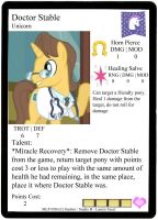 Doctor Stable Profile Card - Pony Figure Game by Ponyfiguregame