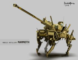 Mobile Artillery MAMMOTH by benedickbana