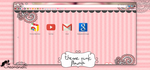 google chrome : Theme pink flower by creamanuali