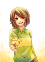 FA: undertale chara by Panther-fam