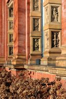 Victoria And Albert Museum Courtyard Facing Detail by aegiandyad