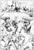 New Avengers Page 4 by JoseSnakes
