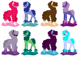 Inky Alpaca Adoptables (CLOSED) by WaterLillyHearts