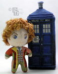 The Sixth Doctor 3D Cross Stitch Doll by rhaben